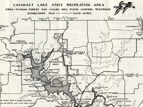 Map of Cataract Lake and ...
